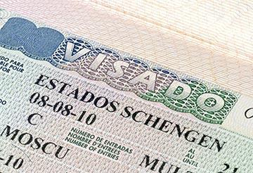 Spain Schengen visa in the passport
